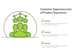Customer Experience Icon Of Product Experience