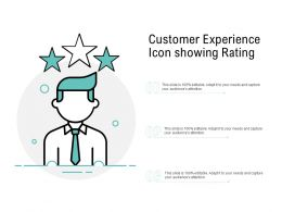 Customer Experience Icon Showing Rating