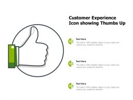 Customer Experience Icon Showing Thumbs Up