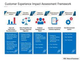 Customer Experience Impact Assessment Framework