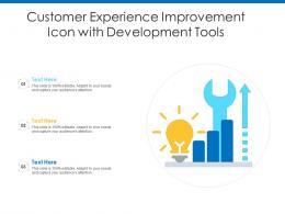 Customer Experience Improvement Icon With Development Tools