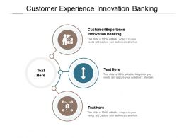 Customer Experience Innovation Banking Ppt Powerpoint Presentation Infographics Graphics Cpb