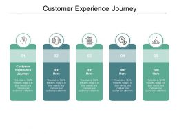 Customer Experience Journey Ppt Powerpoint Presentation Layouts Diagrams Cpb
