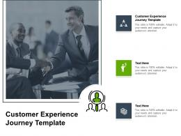 Customer Experience Journey Template Ppt Powerpoint Presentation Model Summary Cpb