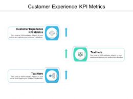 Customer Experience KPI Metrics Ppt Powerpoint Presentation Styles Elements Cpb