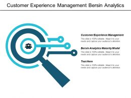 Customer Experience Management Bersin Analytics Maturity Model Marketing Strategies Cpb