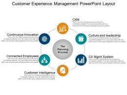 Customer Experience Management Powerpoint Layout