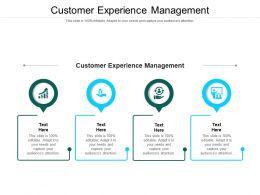 Customer Experience Management Ppt Powerpoint Presentation Portfolio Slides Cpb