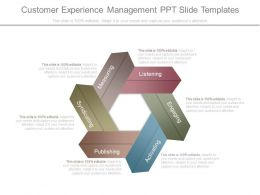Customer Experience Management Ppt Slide Templates