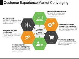 Customer Experience Market Converging Powerpoint Slide