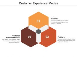 Customer Experience Metrics Ppt Powerpoint Presentation File Visual Aids Cpb