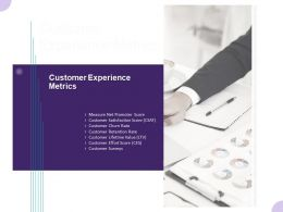 Customer Experience Metrics Ppt Powerpoint Presentation Summary Layout Ideas