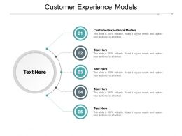 Customer Experience Models Ppt Powerpoint Presentation Slides Graphics Cpb