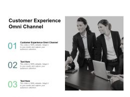 Customer Experience Omni Channel Ppt Powerpoint Presentation Model Show Cpb