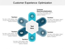 Customer Experience Optimization Ppt Powerpoint Presentation File Demonstration Cpb
