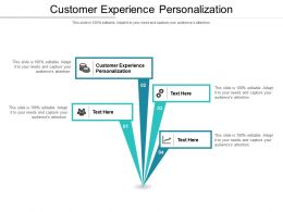 Customer Experience Personalization Ppt Powerpoint Presentation Outline Format Ideas Cpb