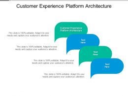 Customer Experience Platform Architecture Ppt Powerpoint Presentation Infographics Cpb