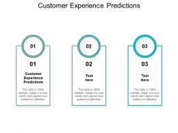 Customer Experience Predictions Ppt Powerpoint Presentation Inspiration Background Designs Cpb
