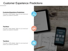 Customer Experience Predictions Ppt Powerpoint Presentation Summary Skills Cpb