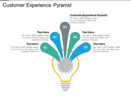 Customer Experience Pyramid Ppt Powerpoint Presentation Gallery Icons Cpb