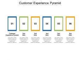 Customer Experience Pyramid Ppt Powerpoint Presentation Microsoft Cpb