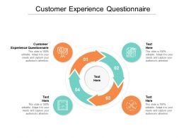 Customer Experience Questionnaire Ppt Powerpoint Presentation File Deck Cpb