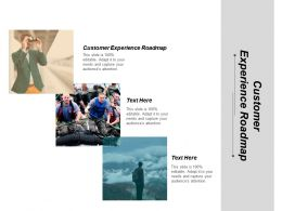 Customer Experience Roadmap Ppt Powerpoint Presentation Infographics Diagrams Cpb
