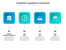 Customer Experience Scorecard Ppt Powerpoint Presentation Summary Introduction Cpb