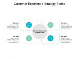Customer Experience Strategy Banks Ppt Powerpoint Presentation File Graphics Download Cpb