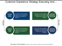 Customer Experience Strategy Executing And Enabling