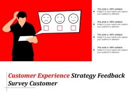 Customer Experience Strategy Feedback Survey Customer