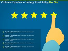 Customer Experience Strategy Hand Rating Five Star