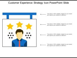 Customer Experience Strategy Icon Powerpoint Slide
