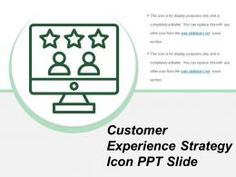 Customer Experience Strategy Icon Ppt Slide