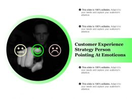 Customer Experience Strategy Person Pointing At Emoticons