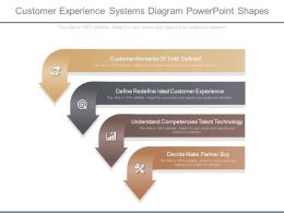 Customer Experience Systems Diagram Powerpoint Shapes