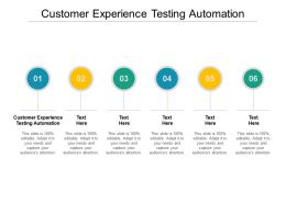Customer Experience Testing Automation Ppt Powerpoint Presentation Ideas Visuals Cpb