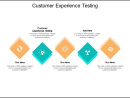 Customer Experience Testing Ppt Powerpoint Presentation Summary Layout Cpb
