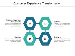 Customer Experience Transformation Ppt Powerpoint Presentation Pictures Diagrams Cpb