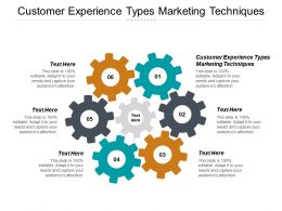 Customer Experience Types Marketing Techniques Ppt Powerpoint Presentation Gallery Shapes Cpb