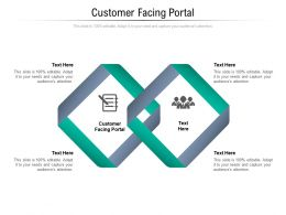 Customer Facing Portal Ppt Powerpoint Presentation Portfolio Pictures Cpb