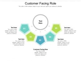 Customer Facing Role Ppt Powerpoint Presentation Gallery Visual Aids Cpb