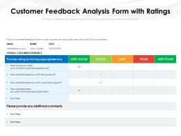 Customer Feedback Analysis Form With Ratings