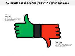 Customer Feedback Analysis With Best Worst Case