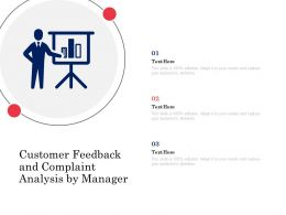 Customer Feedback And Complaint Analysis By Manager