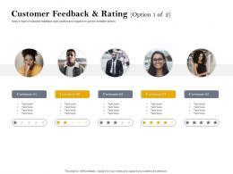 Customer Feedback And Rating Customer Retention And Engagement Planning Ppt Clipart