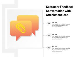 Customer Feedback Conversation With Attachment Icon