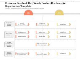 Customer Feedback Half Yearly Product Roadmap For Organization Template