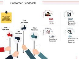 Customer Feedback Powerpoint Ideas