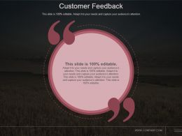 Customer Feedback Powerpoint Slide